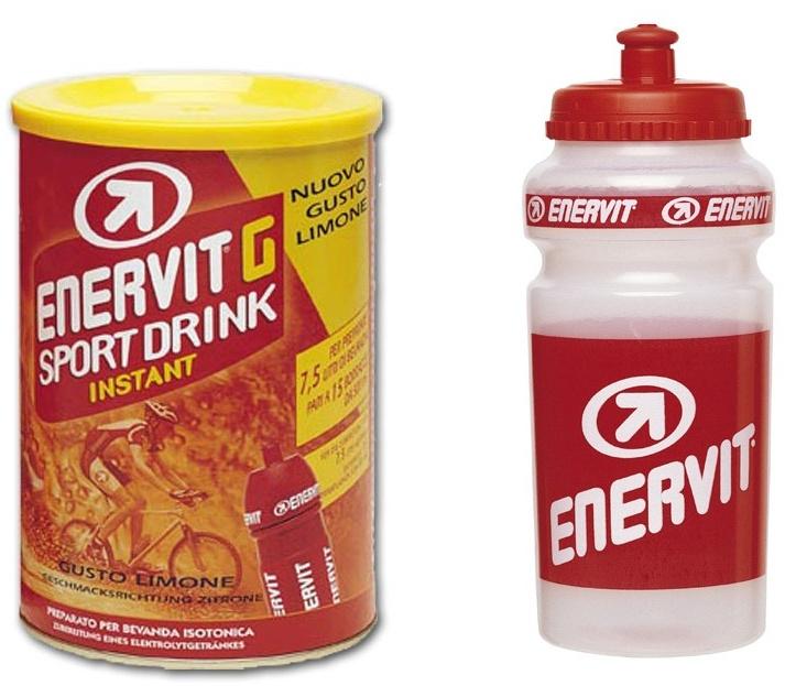 Enervit G Sport 420g citron + Bidon 500 ml ZDARMA