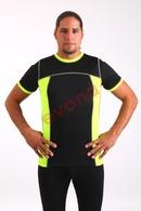 Pánské sportovní triko VELO P černá+neonově žlutá velikost:L