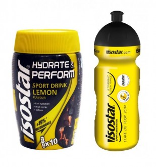 Isostar Fast Hydration 400 g + bidon 650 ml ZDARMA Limited Edition - citron