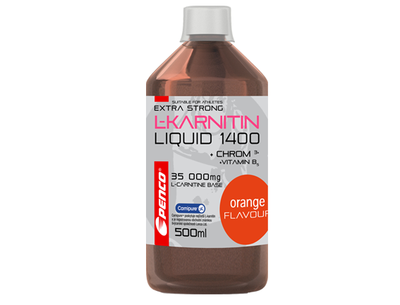 Penco L-Karnitin Liquid Extra Strong 1400 500ml pomeranč