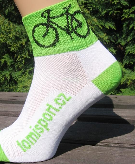 ponožky - CYKLISTICKÉ fluo zelené 43 - 46